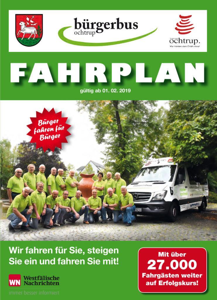 Bürgerbus Ochtrup Fahrplan gesamt